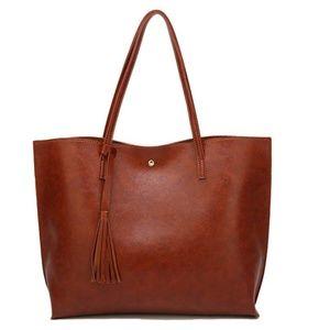 Handbags - Soft Faux Leather Shoulder Bag